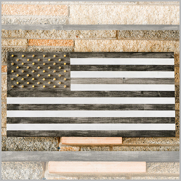 American Flag B&W