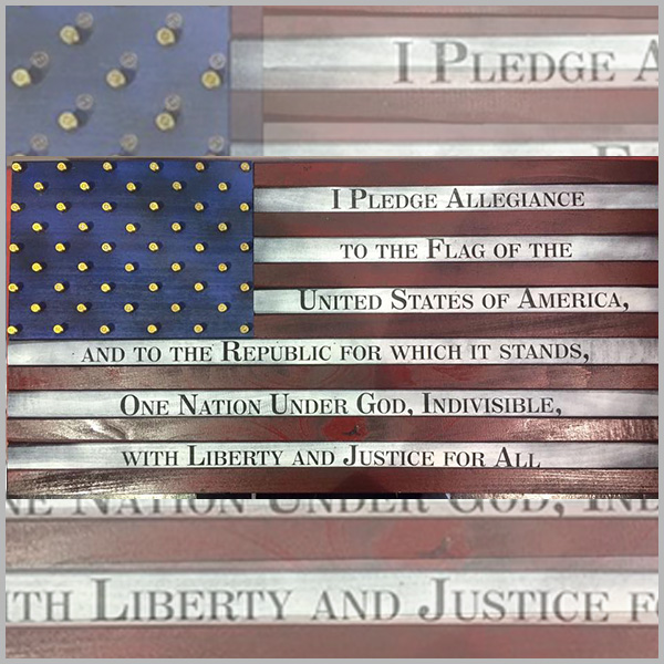 """PLEDGE"" American Flag"